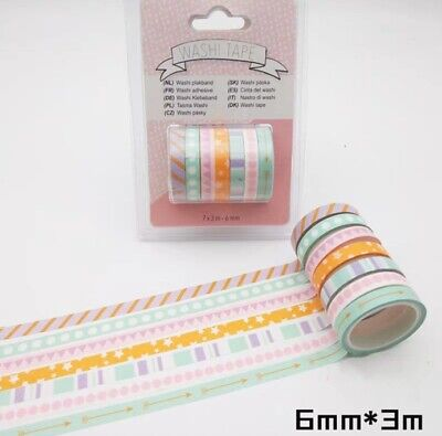 AU4.80 • Buy Japan Washi Tape  - Geometry 7 Rolls Set 6mmx3mx7 Rolls MT436