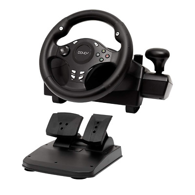 $159.89 • Buy Xbox One S Steering Wheel And Pedal Set Gaming Racing Driving Simulator PS4 PS3