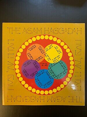 $49.99 • Buy YAACOV AGAM  HAGGADAH  FULLY BOUND PAPERBACK BOOK 10  X 10  INCHES