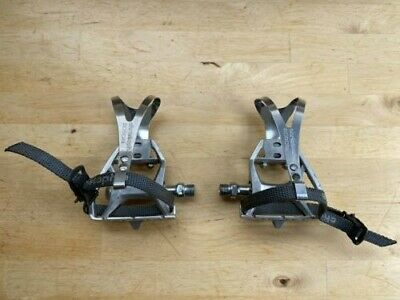$9.90 • Buy Suntour Cyclone 7000 Pedals With Christophe Cages And Straps - 9/16