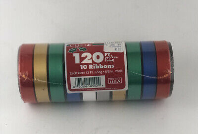 $ CDN15.32 • Buy Vintage CLEO Christmas Ribbons New 120 Ft 40 Yards Total 10 Ribbons Wide USA