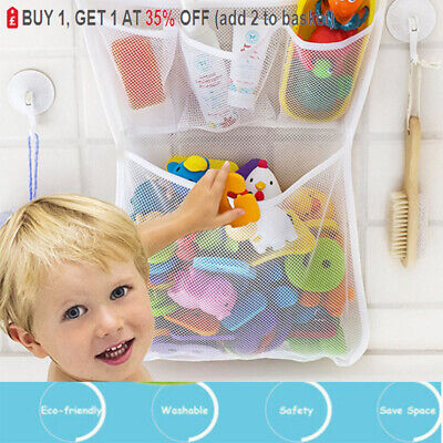 Baby Bath Bathtub Toy Mesh Net Storage Bag Suction Cup Bathroom Toy Organiser • 4.79£