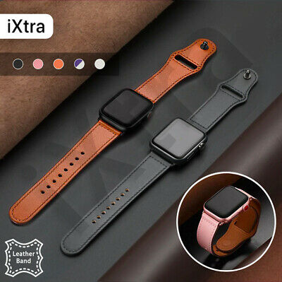 AU11.99 • Buy For Apple Watch Band Genuine Leather Strap IWatch Series 5 4 3 2 6 38 40 42 44mm