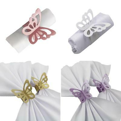 Butterfly Paper Wedding Party Napkin Rings Serviette Favour Table Decoration SI • 3.61£
