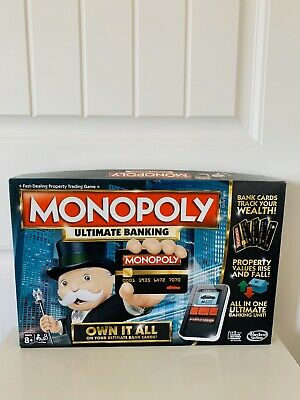 $32.99 • Buy Hasbro Monopoly Ultimate Banking Board Game Complete Electronic Bank And Cards