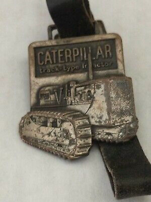 $5 • Buy Vintage Caterpillar Track- Type Tractor Copper/ Brass 3-d Key Holder Fob/ Strap