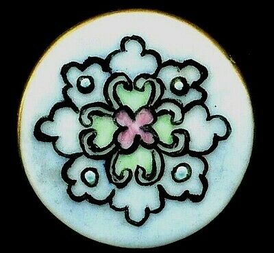 $22.50 • Buy Antique Button…Very Pretty Hand Painted Porcelain Design With Lovely Colors