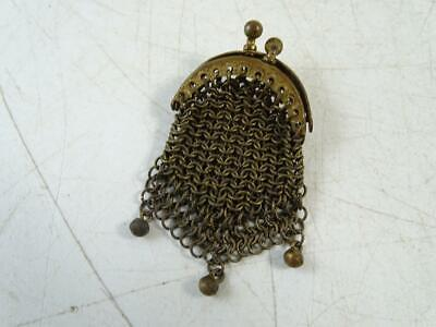 $0.99 • Buy Antique Miniature Coin Purse Transit Token Holder Mesh 1880s Vintage French Old