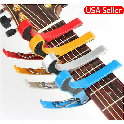 $ CDN7.33 • Buy Guitar Capo Acoustic Electric Trigger Quick Change Key Clamp US