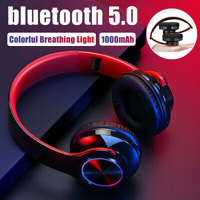 Bluetooth 5.0 Wireless LED Gaming Headphones Headset MIC For Xbox One PC Laptop • 14.26£