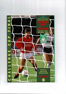 1989 Nottingham Forest V Luton Town League Cup Final Football Programme • 4.50£