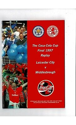 1997 Leicester City V Middlesbrough League Cup Final Replay Football Programme • 4£