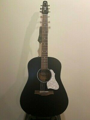 $339 • Buy Seagull S-6 Custom Black Acoustic / Electric Guitar...... Sounds Great !!!