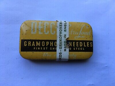 Vintage Decca Extra Loud Tone Sealed/unopened Gramophone Needles Tin • 12.99£