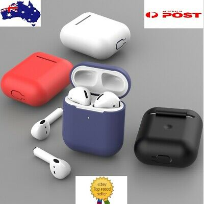 AU5.49 • Buy Silicone Case Shockproof Cover Gel Skin Holder For Airpods Apple 1 2