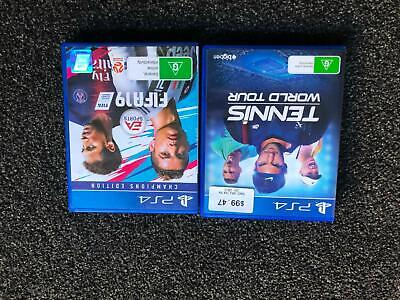 AU45 • Buy PS4 Games - FiFA19 And Tennis World Tour
