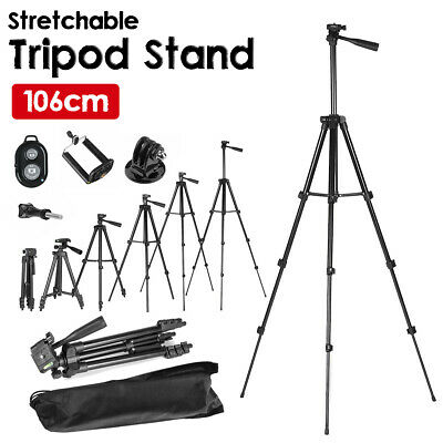 AU23.29 • Buy Adjustable Camera Tripod Mount Stand +Phone Holder For IPhone Samsung Bluetooth