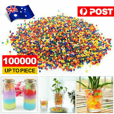 AU5.95 • Buy 100000pcs Crystal Water Balls Jelly Gel Beads For Vases Orbeez MultiColor AU