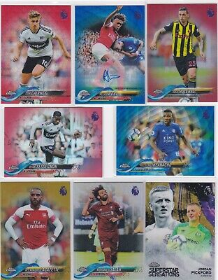 October Update Topps Chrome 2019 Premier League Pick Ur Parallel Football Cards • 7.50£