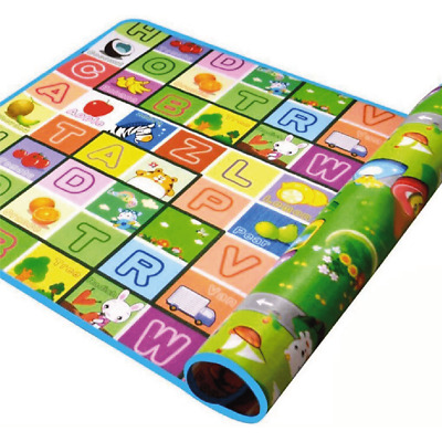 £9.49 • Buy Large Kids Educational Foam Play Mat Letters Animals Soft Double Sided 2 Sizes