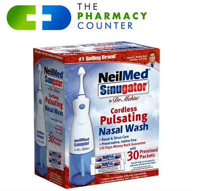 NeilMed Sinugator Cordless Nasal Wash With 30 Premixed Packets • 23.99£