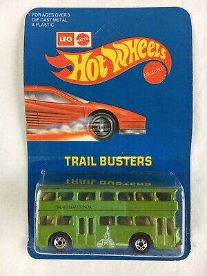 $ CDN344.63 • Buy Hot Wheels Leo Heart Beat India Green Double Decker Bus Trail Busters Unpunched