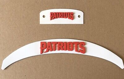 $35 • Buy New England Patriots  Front And Rear 3D Bumpers Riddell Full Size Speed Helmet
