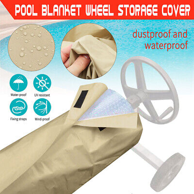 190T 16-24ft Swimming Pool Solar Reel Protective Cover For Ground&Inground Pools • 17.09£