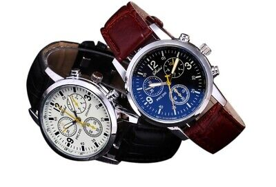 $ CDN2.76 • Buy Men's Leather Military Casual Analog Quartz Wrist Watch Wristwatch