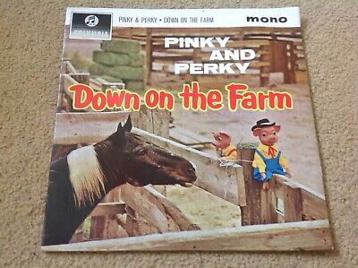 Pinky And Perky Down On The Farm EP VG+ Columbia Records Vinyl Single TV 1960's • 3.99£