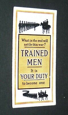 £9.88 • Buy WILLS's CIGARETTES CARD RECRUITING POSTERS WW1 1915 GUERRE 14-18 WHAT SETTLE WAR