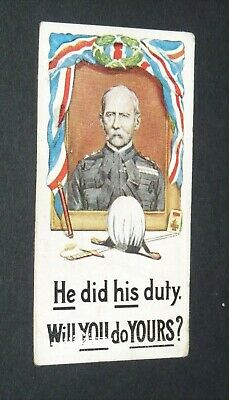£7.30 • Buy WILLS's CIGARETTES CARD RECRUITING POSTERS WW1 1915 GUERRE 14-18 HE DID HIS DUTY