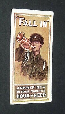 £9.88 • Buy WILLS's CIGARETTES CARD RECRUITING POSTERS WW1 1915 GUERRE 14-18 FALL IN !
