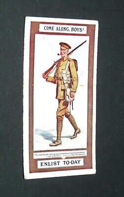 £9.88 • Buy WILLS's CIGARETTES CARD RECRUITING POSTERS WW1 1915 GUERRE 14-18 COME ALONG BOYS