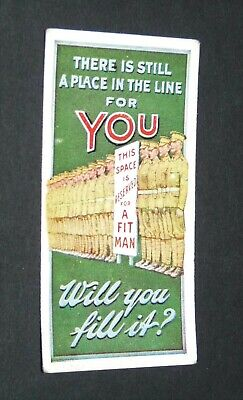 £9.88 • Buy WILLS's CIGARETTES CARD RECRUITING POSTERS WW1 1915 GUERRE 14-18 PLACE IN LINE