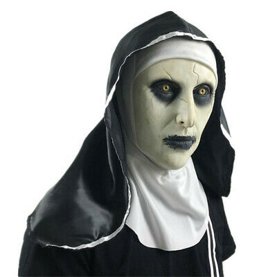 $ CDN12.81 • Buy The Nun Cover Cosplay The Conjuring Valak Cover Full Head Horror Scary Props FA