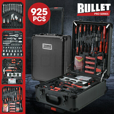 AU133 • Buy 【EXTRA15%OFF】BULLET 925PC Tool Box On Wheels Kit Trolley Mobile Handle Set
