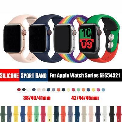 For Apple Watch IWatch Series 3 4 5 38/40/42/44mm Soft Solicone Sport Band Strap • 4.39£