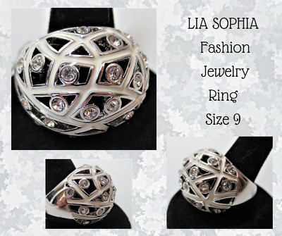 $ CDN26.60 • Buy LIA SOPHIA-Ladies Fashion Costume Jewelry Ring-Woven Enameled Band W/RS-Size 9