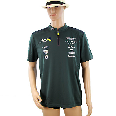 Ex-Mechanics Aston Martin Racing AMR Polo Shirt Dark Green 2018 • 25£