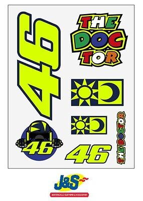 VR46 Valentino Rossi Stickers Large Set Classic Official Motorcycle UST399603 • 11.99£