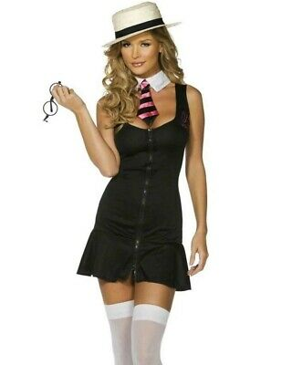 FEVER HIGH SEXY SCHOOL GIRL FANCY DRESS Costume HARRY POTTER HALLOWEEN LINGERIE • 10.99£