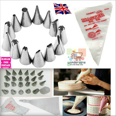 24 Pieces Icing Piping Nozzle Tool Set Pastry Cake Cupcake Sugarcraft Decorating • 4.99£
