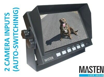 AU176 • Buy Digital Monitor View LCD LED W 2 Camera 7  Video Audio Dash Mount Colour Mirror