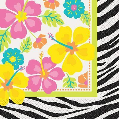 Pack Of 20 Wild Luau Hawaiian Themed Party Napkins / Serviettes - New & Sealed • 1.99£