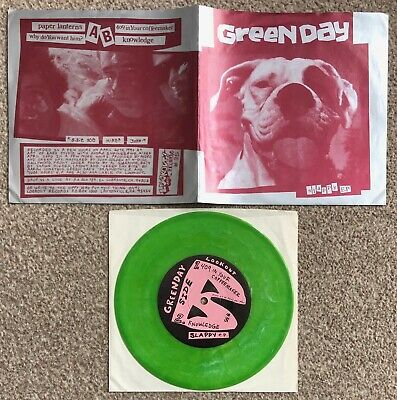 Green Day Slappy EP Mega Rare ORIGINAL USA Green Vinyl 7  F/Out PS Punk • 175£