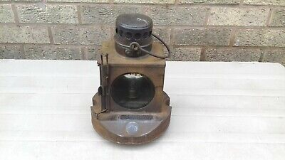 GREAT NORTHERN RAILWAY SIGNAL LAMP Plated  GRANTHAM YARD   For Restoration • 99£