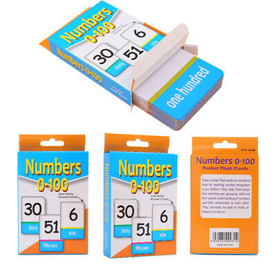 New English Alphabet Arabic Numbers Learning Flash Paper Card Education Toy • 4.32£