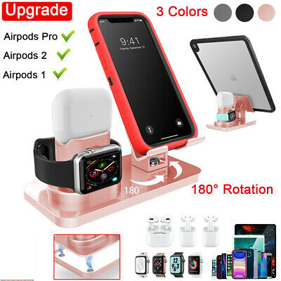 $ CDN25.67 • Buy 3 In 1 Charger Stand Holder Apple Watch Airpods Pro IPhone IPad Charging Station