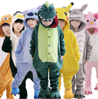 AU25.99 • Buy Animal Costume Children Kid Unisex Onesie11 Pajamas Kigurumi Sleepwear Outfit *1